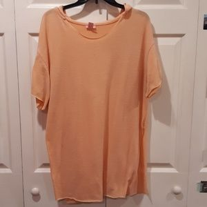 Coral Overiszed Hooded Tunic